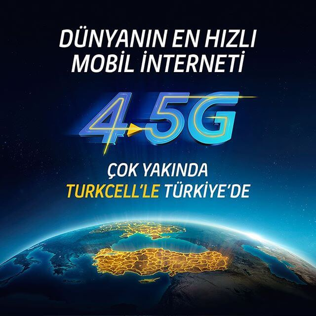 turkcell 4,5g teknolojisi