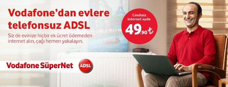 Vodafone yeni kampanyasıyla evlere telefonsuz ADSL hizmeti sunuyor.