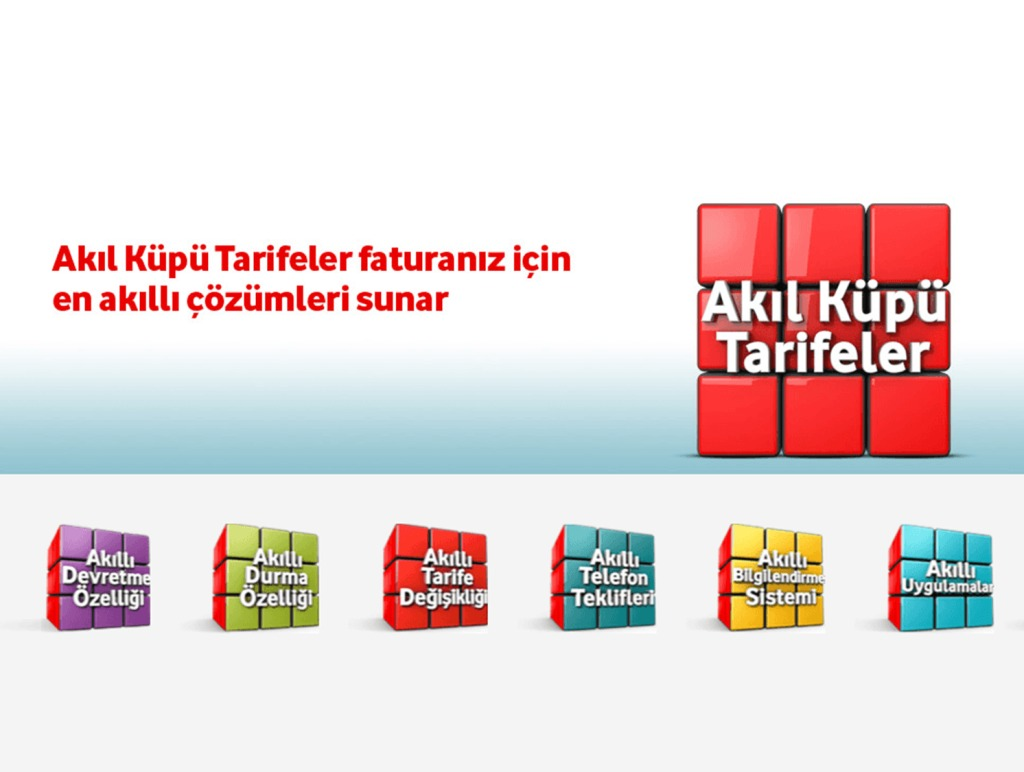 Vodafone Akıl Küpü Tarifeler