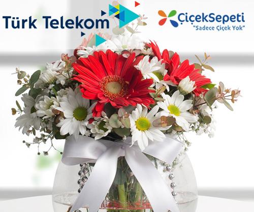 türk telekom prime çiçek sepeti